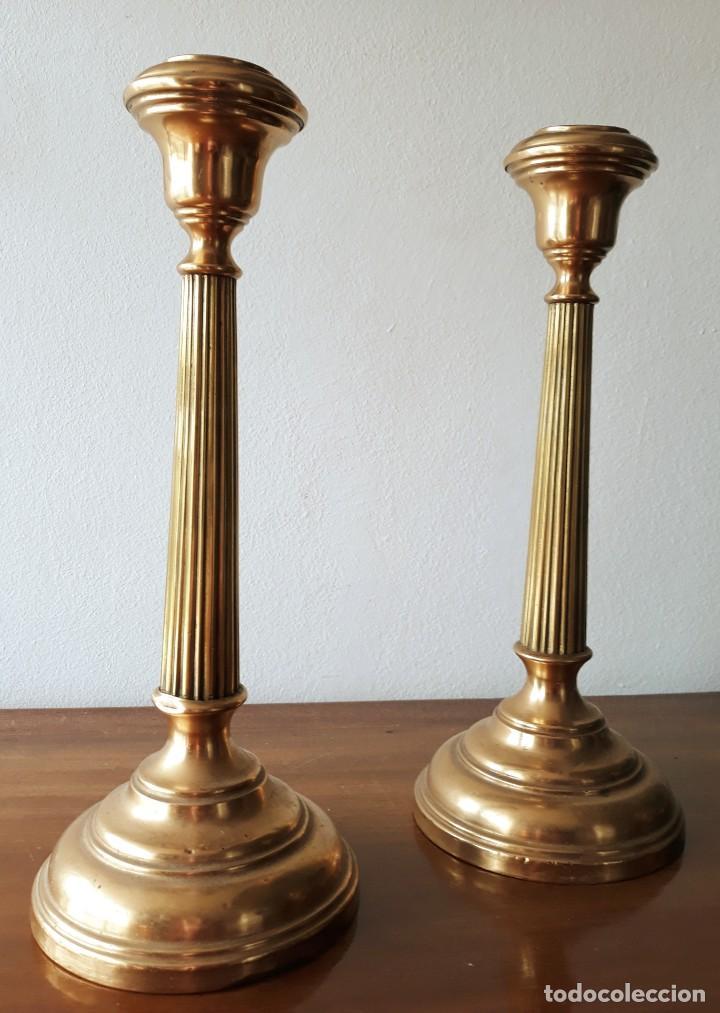 Antigüedades: Pareja de Candelabros Franceses. Siglo XIX - Foto 2 - 184329502