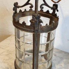 Antigüedades: ANTIGUO FAROL DE BRONCE. Lote 184332922