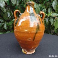 Antigüedades: ALFARERÍA CATALANA: BOTIJA DE BLANES. Lote 184339657