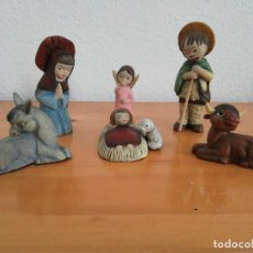 Antigüedades: ANTIGUAS FIGURAS NACIMIENTO SERRANO FERRANDIZ PARA BELÉN PESEBRE. Lote 184348676