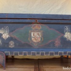 Antigüedades: BAÚL ESPAÑOL SIGLO XVIII. Lote 184349686