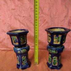 Antigüedades: PEQUEÑAS JARDINERAS DE CERÁMICA VIDRIADA CHINAS. SIGLO XIX. Lote 184375938