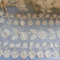 Antigüedades: ANTIGUA PIEZA DE ENCAJE DE BRUSELAS - IMAGEN S. XIX. Lote 184379467