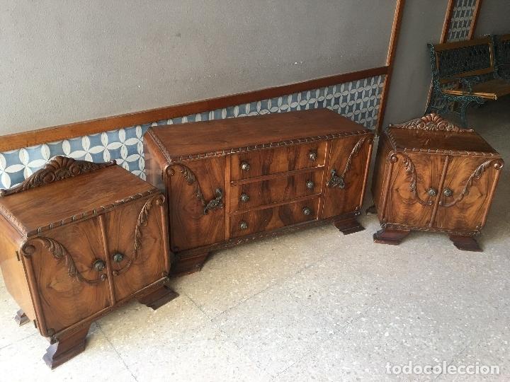 Antigüedades: COMODA COLOR NOGAL, SIN ESPEJO, PRINCIPIOS DEL SIGLO XX, 119 CM. DE LARGO - Foto 22 - 184391665