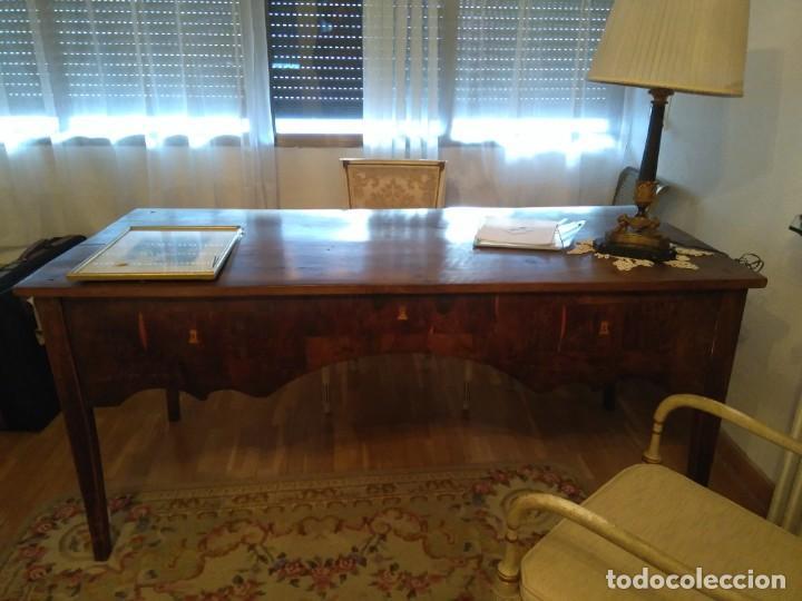 MESA DE DESPACHO DE NOGAL. (Antigüedades - Muebles Antiguos - Mesas de Despacho Antiguos)