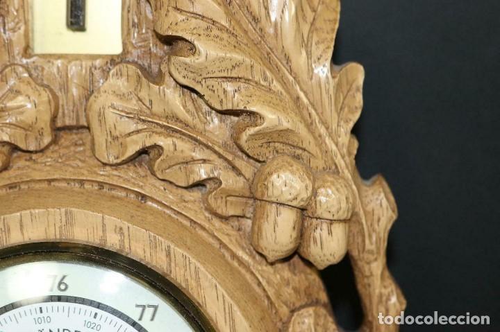 Antigüedades: ANTIGUO BAROMETRO-TERMOMETRO-HIGROMETRO-aleman- decoración rustica- años 40 - lote 212 - Foto 7 - 184400222