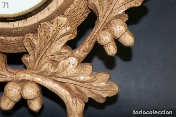 Antigüedades: ANTIGUO BAROMETRO-TERMOMETRO-HIGROMETRO-aleman- decoración rustica- años 40 - lote 212 - Foto 8 - 184400222