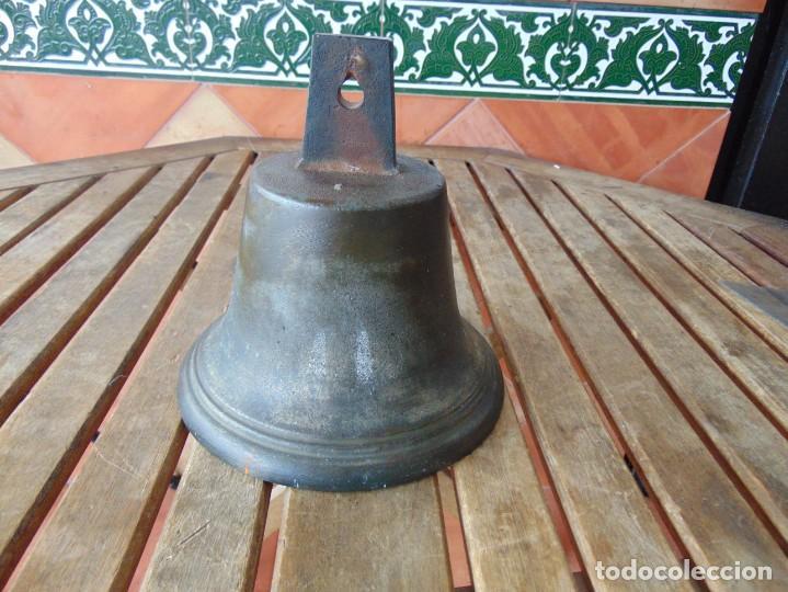 Antigüedades: CAMPANA EN BRONCE ESTACION DE TREN ,BARCO O SIMILAR NO ESTA MARCADA 20 X 20.5 CM SOBRE 5000 GRAMOS - Foto 16 - 276602633