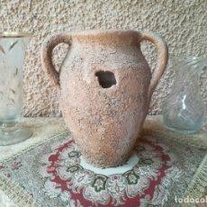Antigüedades: TINAJA U ORZA - CERÁMICA POPULAR - TRES ASAS. Lote 184426536