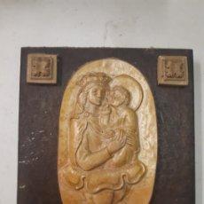 Antigüedades: VIRGEN CON NIÑO. TERRACOTA Y MADERA. OBRA DE FRANCESC GASSO, UNA OBRA DE ARTE EN TU CASA. Lote 184431857