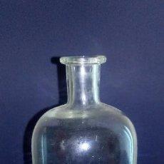 Antigüedades: BOTELLA DE CRISTAL FARMACIA - 23 X 9 X 4 CMS. Lote 184440370