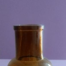 Antigüedades: BOTELLA DE CRISTAL FARMACIA - 14.5 X 3.5 X 5.5 CMS. Lote 184444265
