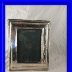 Antigüedades: MARCO DE FOTOS DE PLATA ANTIGUO ENTELADO. Lote 184447675
