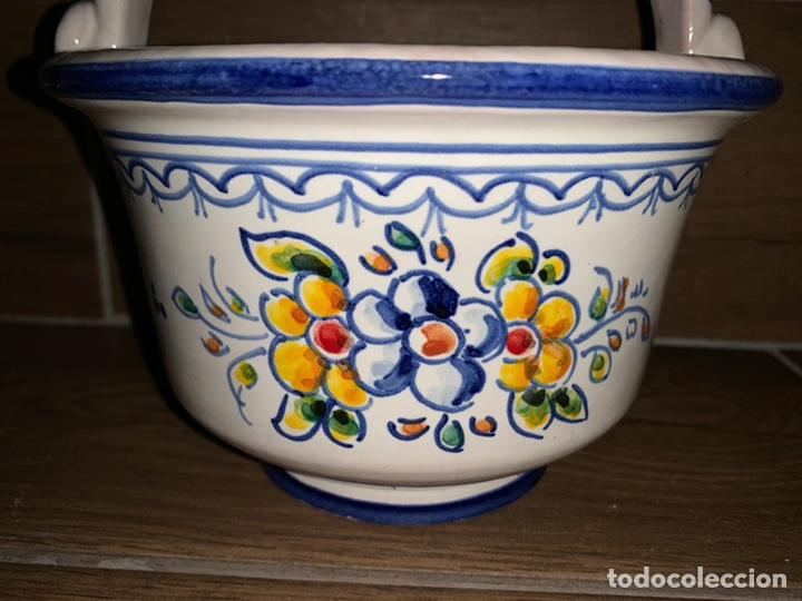 Antigüedades: Cestita frutero hecho y pintado a mano, Talavera - Foto 2 - 184447712