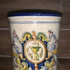 Antigüedades: TARRO FARMACIA. PINTADO A MANO TALAVERA. Lote 184449437