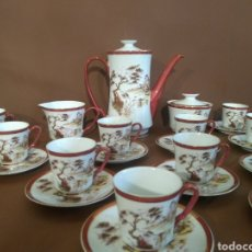 Antigüedades: JUEGO DE CAFE PORCELANA WÚNSCHEN VERGESSEN UNSERE OMMEN ERSONLICHES. Lote 184449603