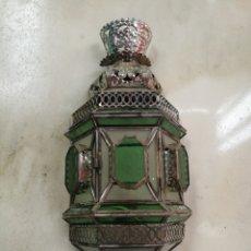 Antigüedades: FAROL LAMPARA APLIQUE DE PARED ARTESANIA. Lote 184450085