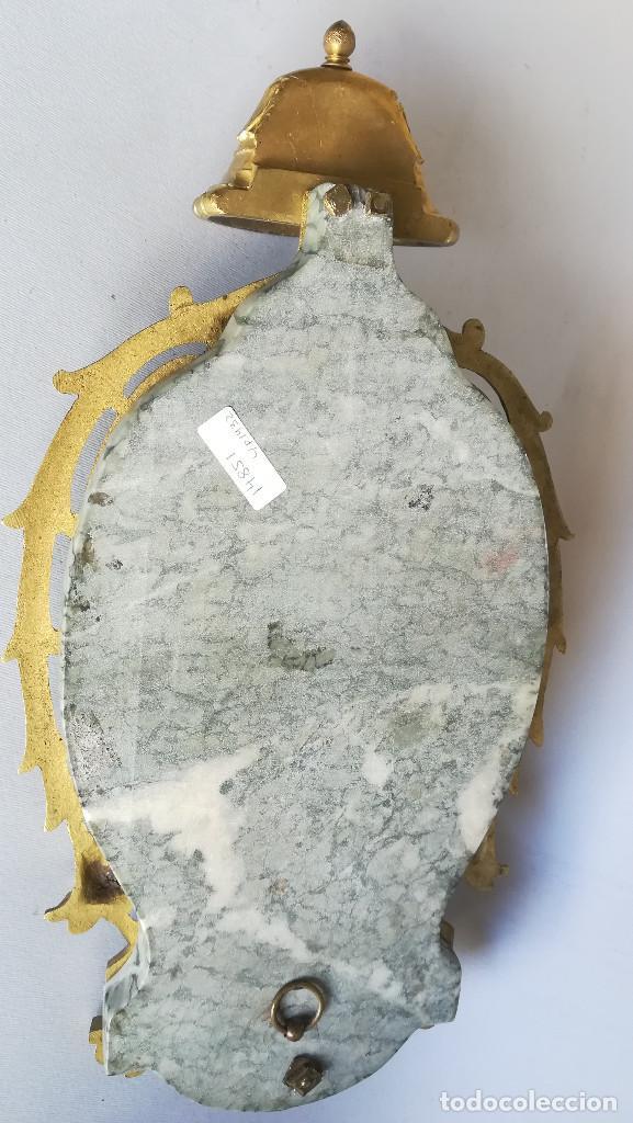 Antigüedades: BENDITERA DE BRONCE Y MARMOL, IMAGEN SOBRE ESMALTE - Foto 4 - 184453976