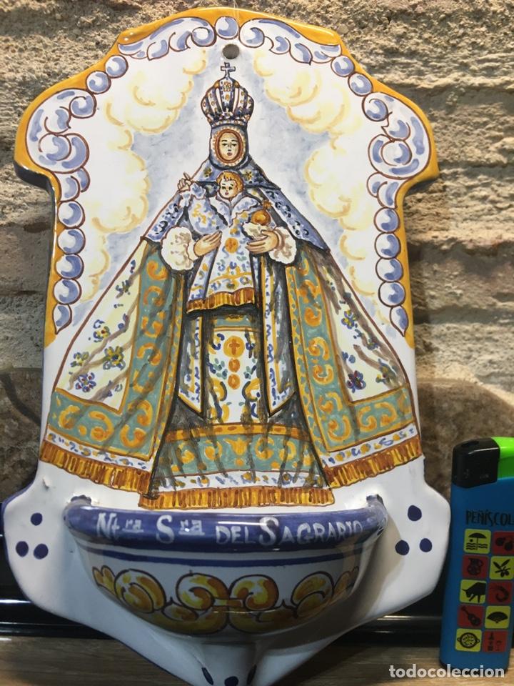 BENDITERA DE NUESTRA SEÑORA DEL SAGRARIO TOLEDO (Antigüedades - Religiosas - Benditeras)