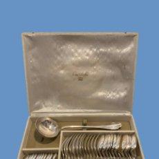 Antigüedades: MAGNIFICA CUBERTRIA CHRISTOFLE SIN USAR PRECIOSO DISEÑO 37 PIEZAS. Lote 226298590