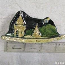 Antigüedades: PUENTECESURES CERAMICA CELTA - RARO SECANTE ESCRITORIO, PROPAGANDA LAMPARAS YRIA IRIA PADRON + INFO. Lote 184474520