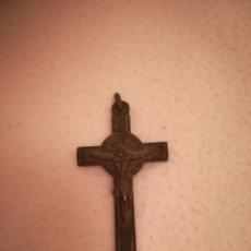 Antigüedades: ANTIGUO CRUCIFIJO. DOBLE CARA. CRUZ CELTA CON CRUZ DE MALTA. DORSO IMAGEN JUAN PABLO II. 4 X 7CM. . Lote 184489050