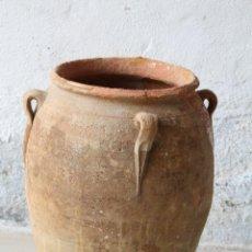 Antigüedades: ORZA DE BARRO DE CUATRO ASAS - TINAJA - CÁNTARO - - SIGLO XIX - GRAN TAMAÑO. Lote 184509056
