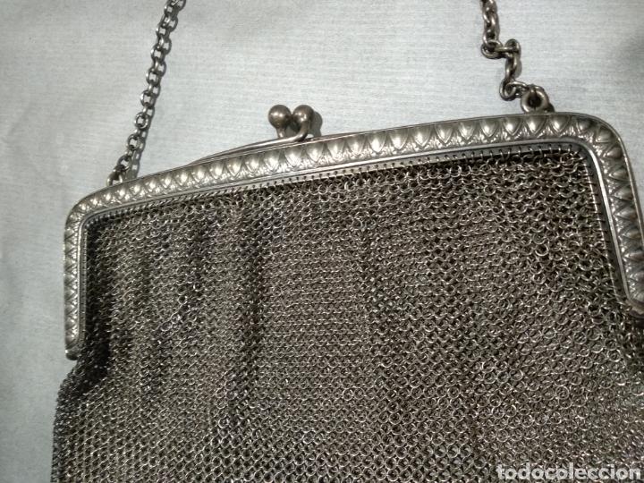 Antigüedades: Bolso de malla de plata - Foto 2 - 184516918