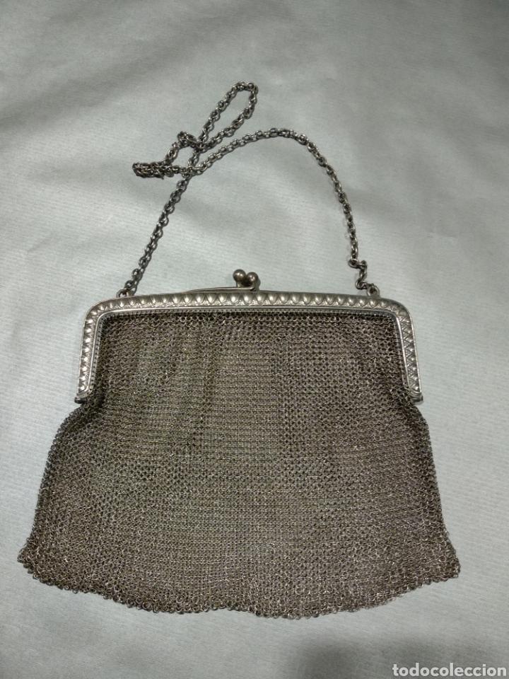 BOLSO DE MALLA DE PLATA (Antigüedades - Moda - Bolsos Antiguos)