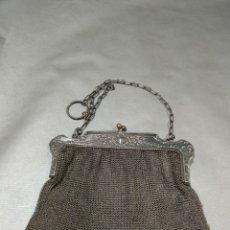 Antigüedades: BOLSO DE MALLA DE PLATA. Lote 184517631