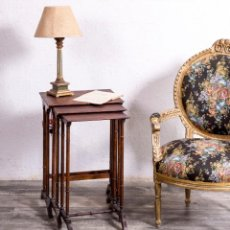Antigüedades: MESA NIDO DE MADERA ANTIGUA. Lote 184523836
