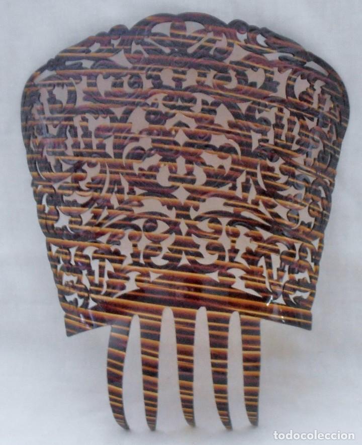 Antigüedades: PEINETA 26 CM DE LARGO - Foto 2 - 184543843