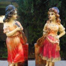 Antigüedades: FIGURAS TERRACOTA DE CHICAS MÚSICAS.. Lote 184547645