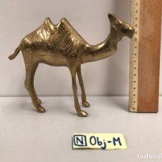 Antigüedades: ANTIGUA FIGURA - CAMELLO DE BRONCE. Lote 184567460