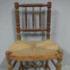 Antigüedades: SILLA ENEA DE COSTURERA ANTIGUA DE MADERA TORNEADA. Lote 184571006