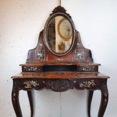 Antigüedades: ANTIGUO TOCADOR INCRUSTACIONES NACAR. Lote 184590656