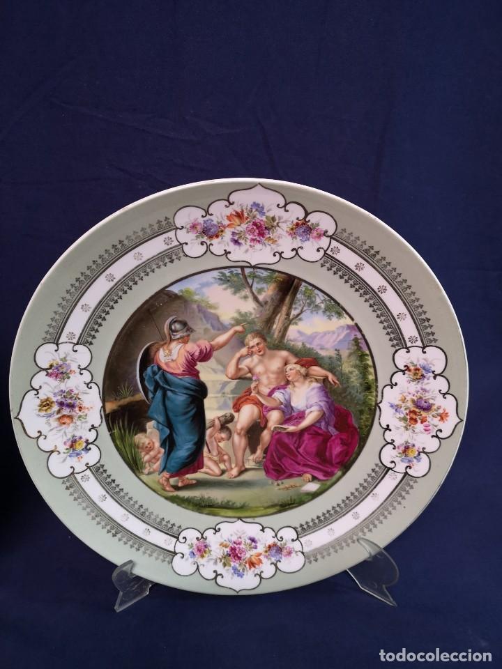 Antigüedades: PAREJA DE PLATOS AUSTRIACOS - Foto 3 - 184593931