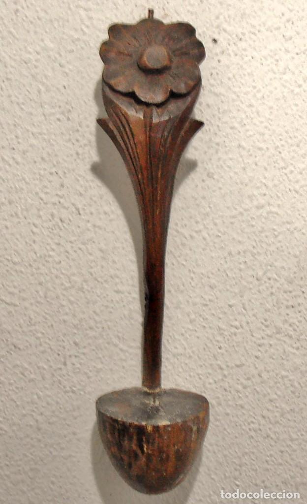 CANDELABRO DE PARED, APLIQUE, DE MADERA (Antigüedades - Iluminación - Candelabros Antiguos)