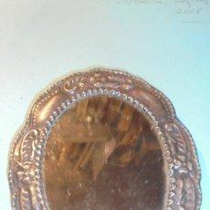 Antigüedades: ANTIGUO PORTAFOTOS O ESPEJO DE PLATA DE LEY - 16X12 CM. . Lote 184617286