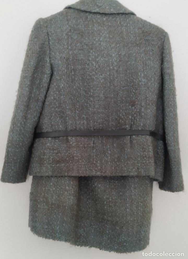 Antigüedades: Traje chaqueta, falda y cuerpo de lana. Años 50/60. Prince González. San Sebastián - Foto 3 - 184618527