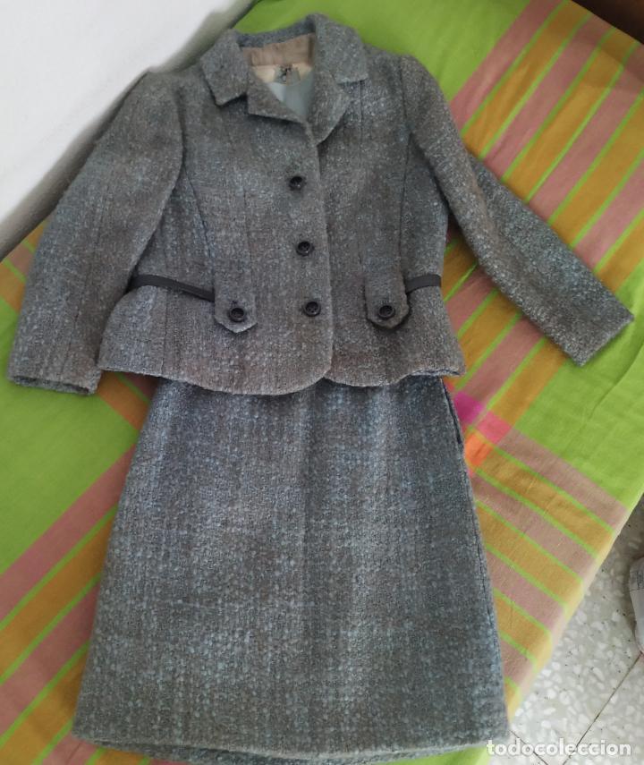 Antigüedades: Traje chaqueta, falda y cuerpo de lana. Años 50/60. Prince González. San Sebastián - Foto 4 - 184618527