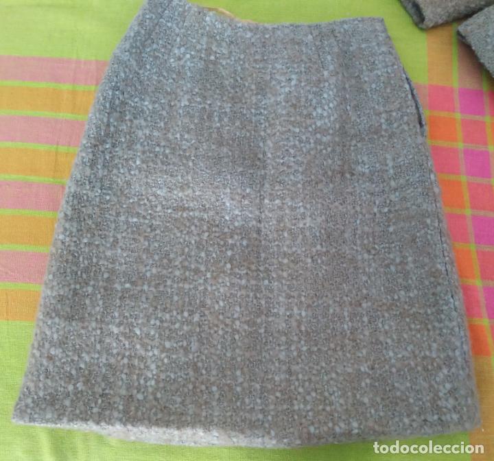 Antigüedades: Traje chaqueta, falda y cuerpo de lana. Años 50/60. Prince González. San Sebastián - Foto 12 - 184618527