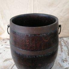 Antigüedades: BARRIL PARAGUERO DE ROBLE. Lote 184635591