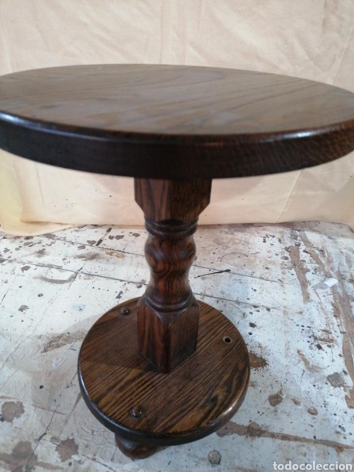 Antigüedades: Velador de madera de roble - Foto 2 - 184637161