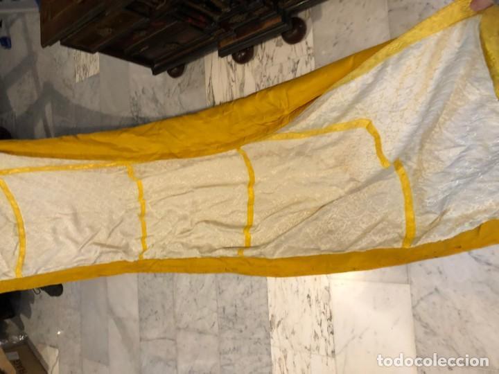 Antigüedades: 2 telas para liturgia procedente de casullas o capas - Foto 4 - 184641195