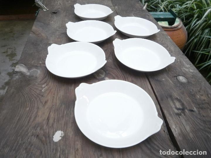 6 PLATITOS PARA HUEVOS (Antigüedades - Porcelanas y Cerámicas - Santa Clara)
