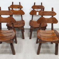 Antigüedades: SILLAS MACIZAS DE ROBLE RUSTICAS. Lote 184690678