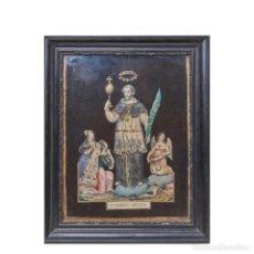 Antigüedades: SAN RAMÓN NONATO. COMPOSICIÓN RELIGIOSA. CIRCA 1900.. Lote 184711980