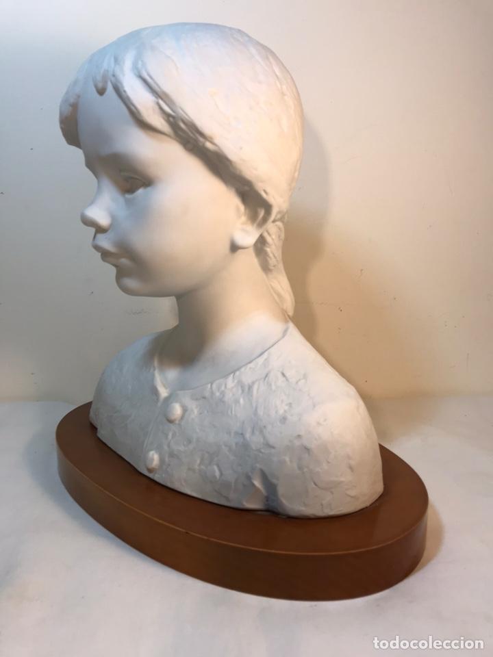 Antigüedades: Figura Porcelana- Lladró- Niña Busto- Serie Limitada n 134 de 500 - Foto 7 - 184720917