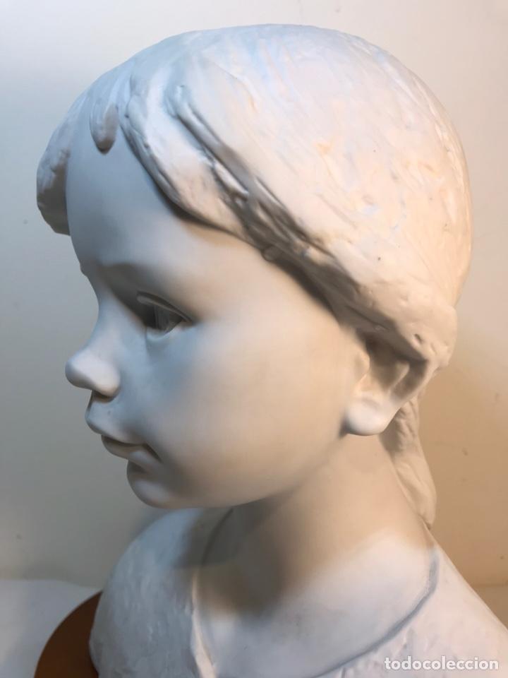 Antigüedades: Figura Porcelana- Lladró- Niña Busto- Serie Limitada n 134 de 500 - Foto 8 - 184720917